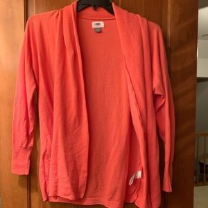 Old Navy Coral Cardigan M Lightly Used M Medium